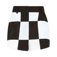 Dolce & Gabbana shorts con effetto jacquard damier - bianco