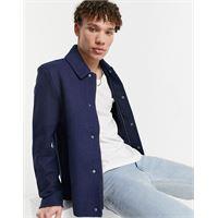 Lyle & Scott - giacca di lana spigata-blu navy