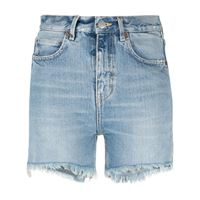 Haikure shorts a vita alta - blu