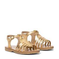 Bonpoint sandali in pelle metallizzata