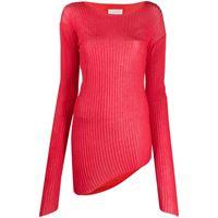 Maison Margiela maglione asimmetrico - rosso