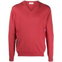 Altea maglione con scollo a v - rosso