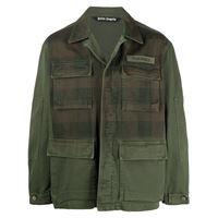 Palm Angels giacca militare a quadri - verde