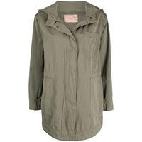 TWINSET giacca con cappuccio - verde