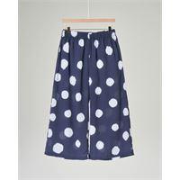 Elsy pantaloni cropped blu a pois bianchi 3-4 anni