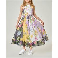 Elsy abito smanicato con stampa floreale multicolor 40-44