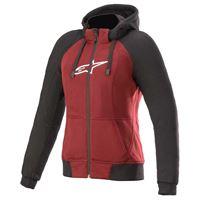 Alpinestars stella chrome sport full zip sweatshirt l jasper red / black / white