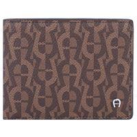AIGNER icon cover portafoglio 10 cm marrone
