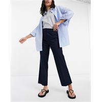 Selected femme - pantaloni blu navy con fondo ampio
