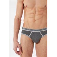 Intimissimi slip in cotone supima® elasticizzato con logo grigio chiaro