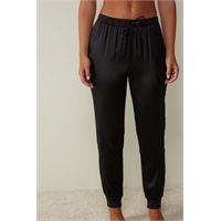Intimissimi pantalone lungo in seta e lyocell nero