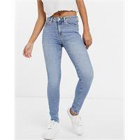 Selected femme - sophia - jeans skinny in misto cotone organico lavaggio blu medio