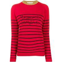 Giada Benincasa maglione a righe - rosso
