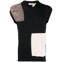Maison Flaneur maglione patchwork - nero