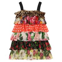 Dolce & Gabbana Kids abito a stampa in seta