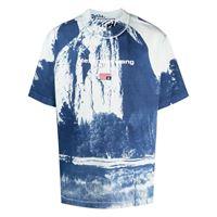 Alexander Wang t-shirt cathedral rock a girocollo - blu