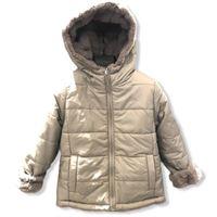 Giubbino in nylon 100% per bambine e ragazze color ghiaccio reversibile pellicciotto per bambine e ragazze autunno inverno |abbigliamento autunnale | invernale