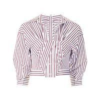Alexander Wang camicia asimmetrica a righe - bianco
