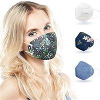 ALB Stoffe® cover. Me - 3 cover heiq-viroblock con mezza maschera, mix 2, 100% made in germany, maschere per naso e naso, confezione da 3 + 1