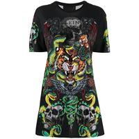 Philipp Plein abito modello t-shirt con stampa - nero
