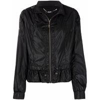 LIU JO giacca leggera con ruches - nero