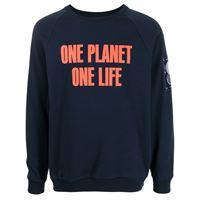 Ports V felpa one planet one life con stampa - blu
