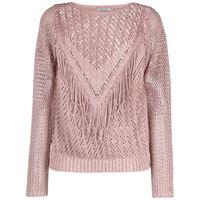 LIU JO maglione con frange - rosa
