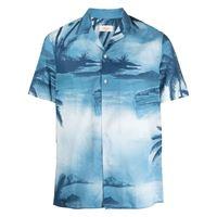 Altea camicia con stampa - blu