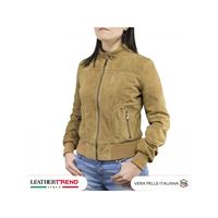 Leather Trend Italy bomber donna in pelle scamosciata nabuk
