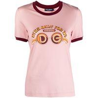 Dolce & Gabbana t-shirt con stampa - rosa