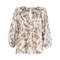 LIU JO blusa con stampa paisley - toni neutri