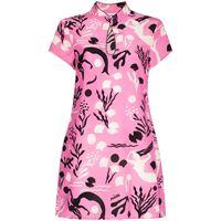 Rixo abito corto lolita con stampa - rosa