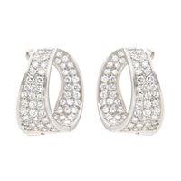 Crivelli orecchini cerchi ovali oro diamanti crivelli