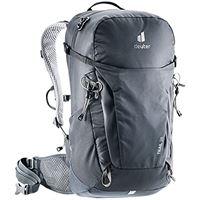 Deuter trail 26, zaino per escursionismo unisex-adulti, nero-black-graphite, 26 l