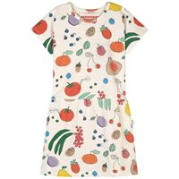 nadadelazos - fruits from the garden vestito ivory - bambina - 4 anni - ecru - avorio