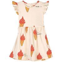 nadadelazos - strawberry ice cream vestito beige - bambina - 2 anni - beige