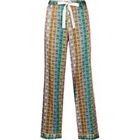 Morgan Lane pantaloni chantal con stampa - multicolore
