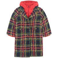 Dolce & Gabbana bambino - branded check 2-in-1 cappotto navy - bambina - 6 anni - rosso