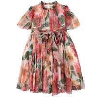 Dolce & Gabbana bambino - floral silk vestito rosa - bambina - 10 anni - rosa