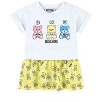 Moschino Kid-Teen bambino - bear print tutina gialla - bambina - 6-9 mesi - giallo