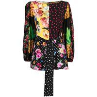 Dolce & Gabbana blusa con stampa - nero