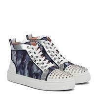 Christian Louboutin sneakers super lou spikes in denim
