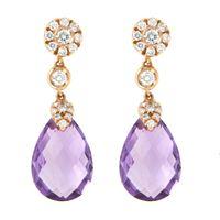 Crivelli orecchini crivelli pendenti oro diamanti amatista