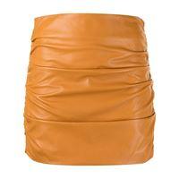 Michelle Mason minigonna con ruches - arancione
