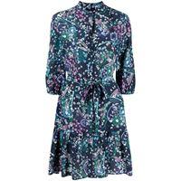 Saloni abito corto a fiori - blu