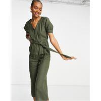 Whistles - nora - tuta jumpsuit in lino verde