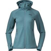 Bergans giacca con cappuccio in lana ulstein donna blu