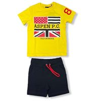 Aspen polo club - completo t-shirt mezza manica e pantaloncino bambino