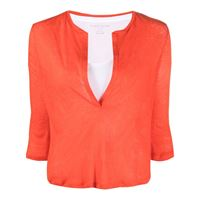 Majestic Filatures t-shirt con scollo a v - arancione