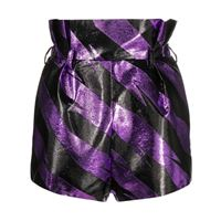Alexandre Vauthier shorts a righe - nero